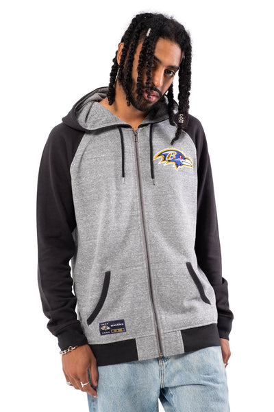NFL Baltimore Ravens Men's Full Zip Hoodie|Baltimore Ravens