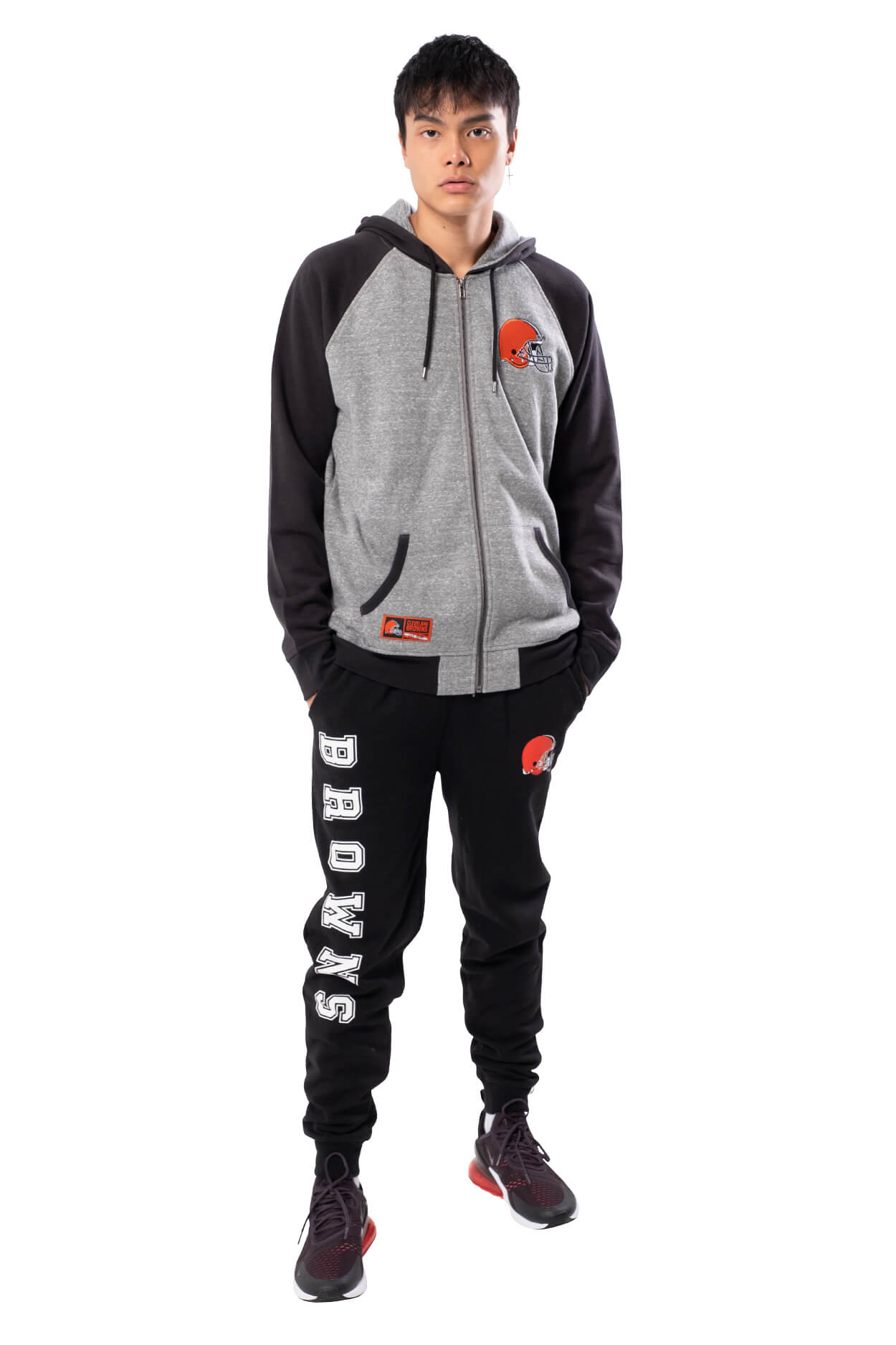 NFL Cleveland Browns Men's Full Zip Hoodie|Cleveland Browns