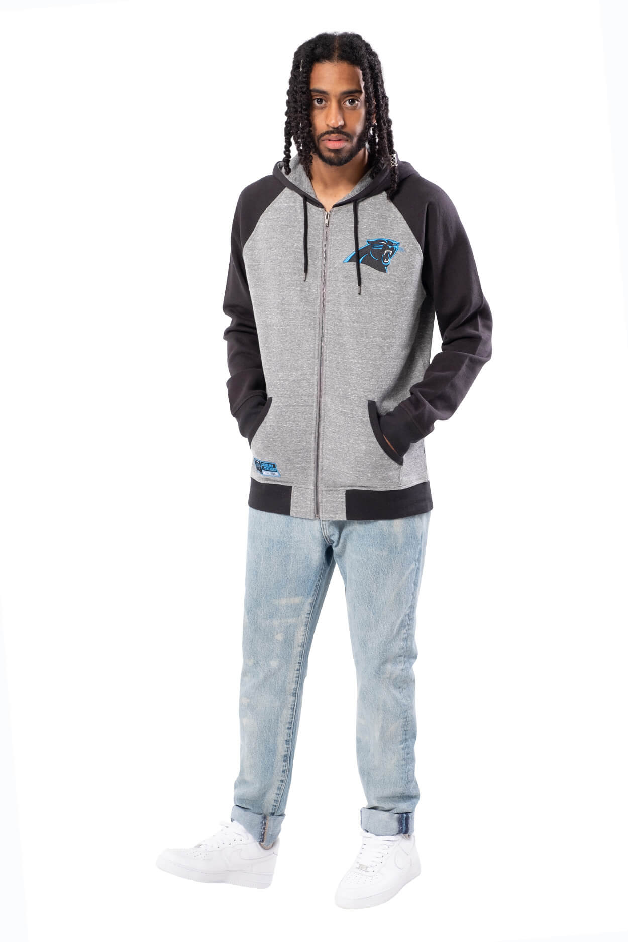 NFL Carolina Panthers Men's Full Zip Hoodie|Carolina Panthers
