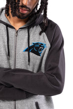 Load image into Gallery viewer, NFL Carolina Panthers Men's Full Zip Hoodie|Carolina Panthers