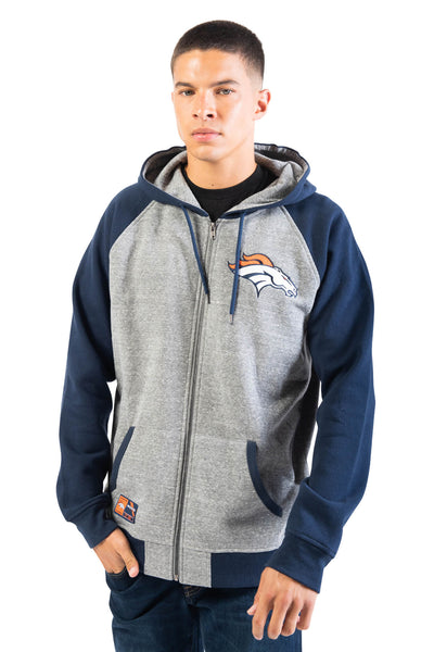 NFL Denver Broncos Men's Full Zip Hoodie|Denver Broncos