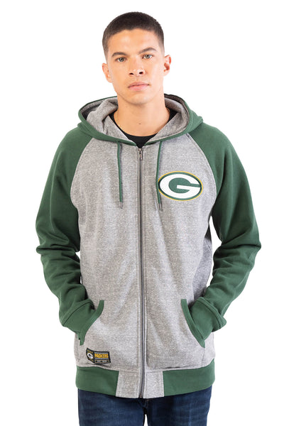NFL Green Bay Packers Men's Full Zip Hoodie|Green Bay Packers