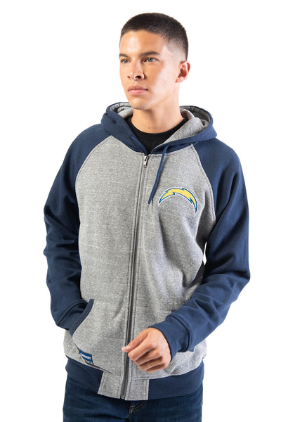 NFL Los Angeles Chargers Men's Full Zip Hoodie|Los Angeles Chargers