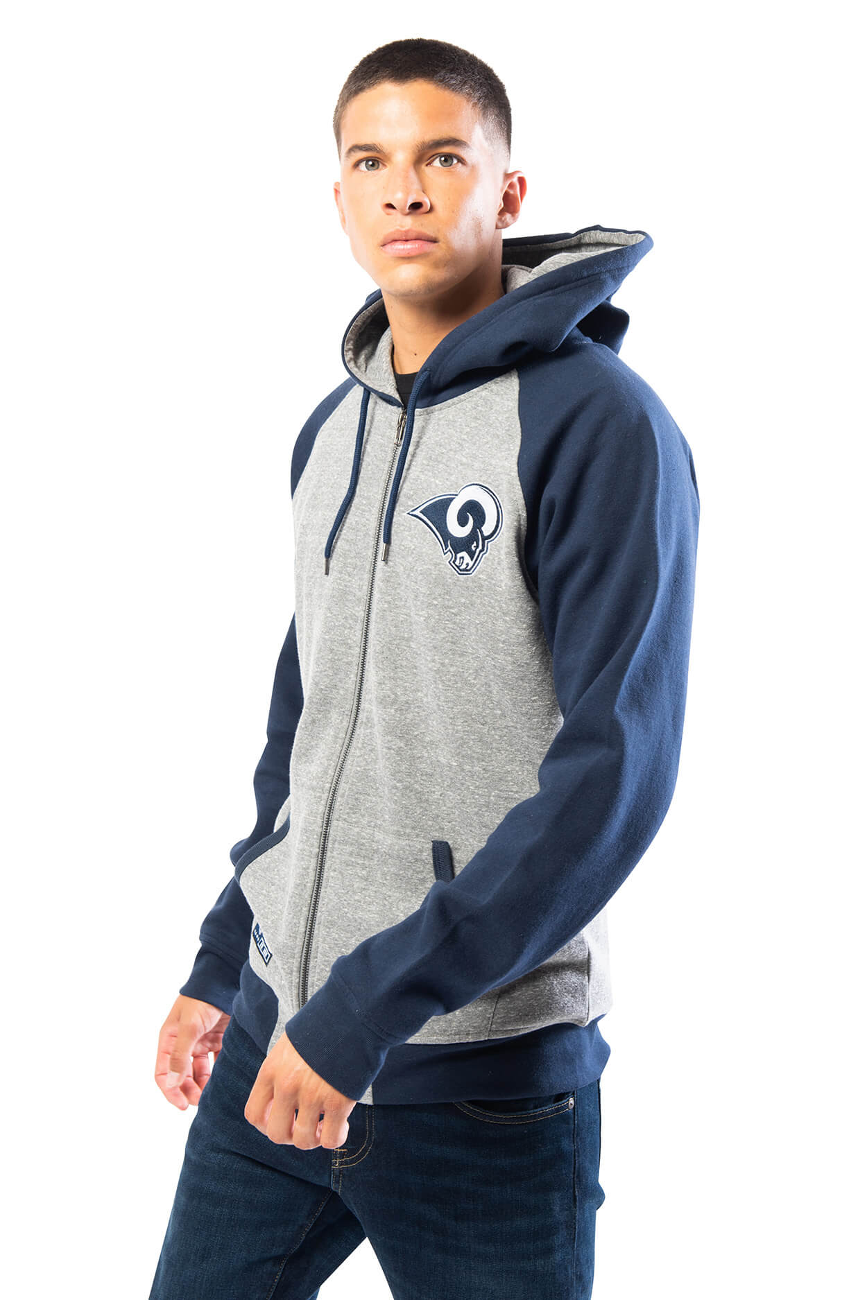 NFL Los Angeles Rams Men's Full Zip Hoodie|Los Angeles Rams