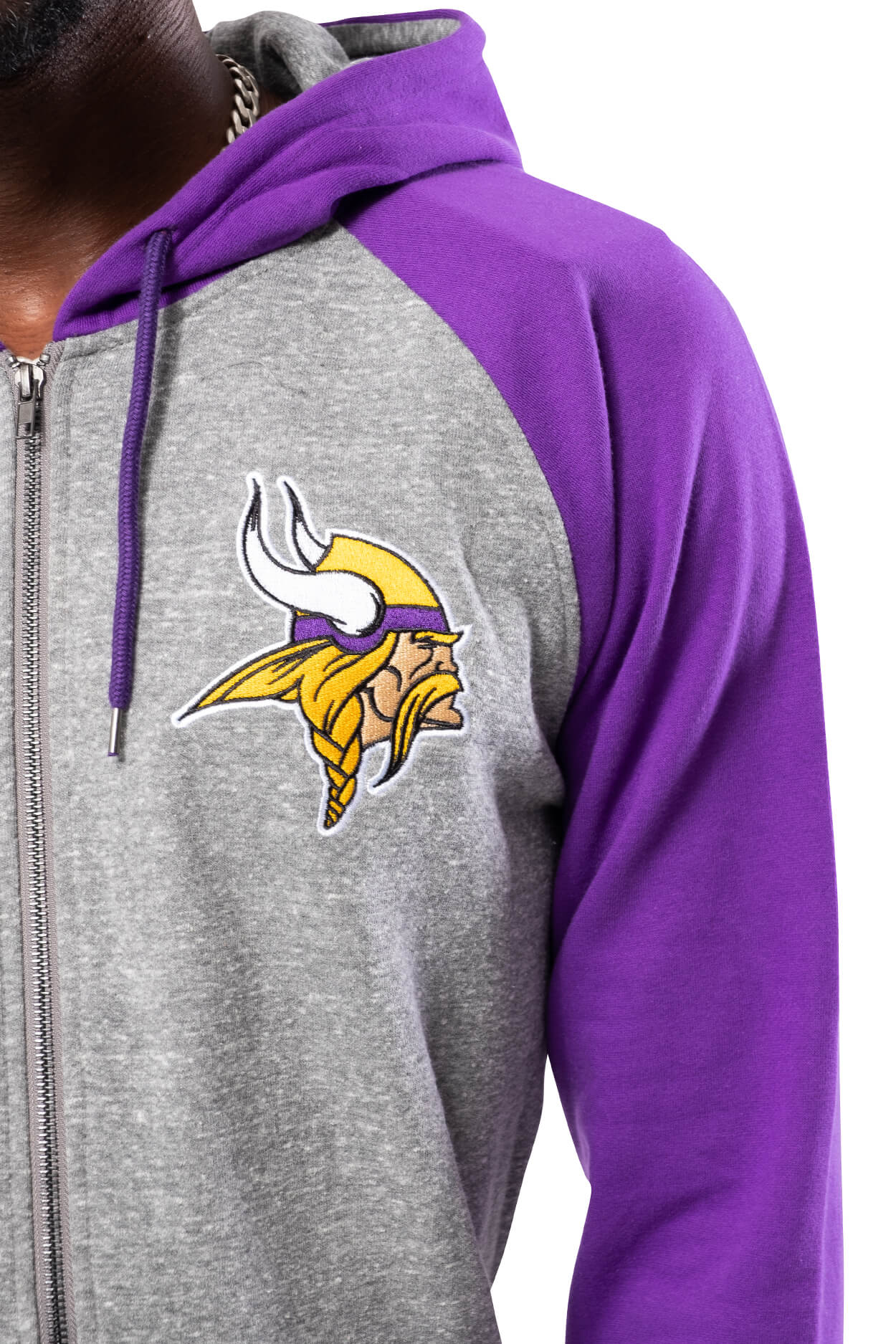 NFL Minnesota Vikings Men's Full Zip Hoodie|Minnesota Vikings
