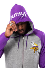 Load image into Gallery viewer, NFL Minnesota Vikings Men's Full Zip Hoodie|Minnesota Vikings