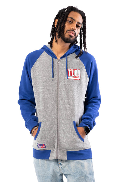 NFL New York Giants Men's Full Zip Hoodie|New York Giants