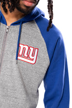 Load image into Gallery viewer, NFL New York Giants Men's Full Zip Hoodie|New York Giants