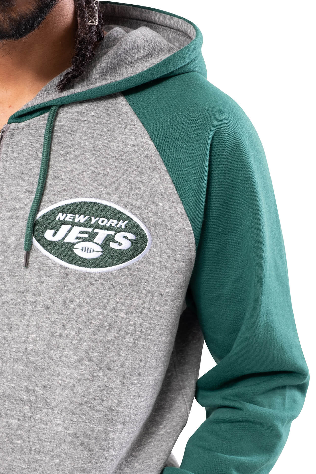 NFL New York Jets Men's Full Zip Hoodie|New York Jets
