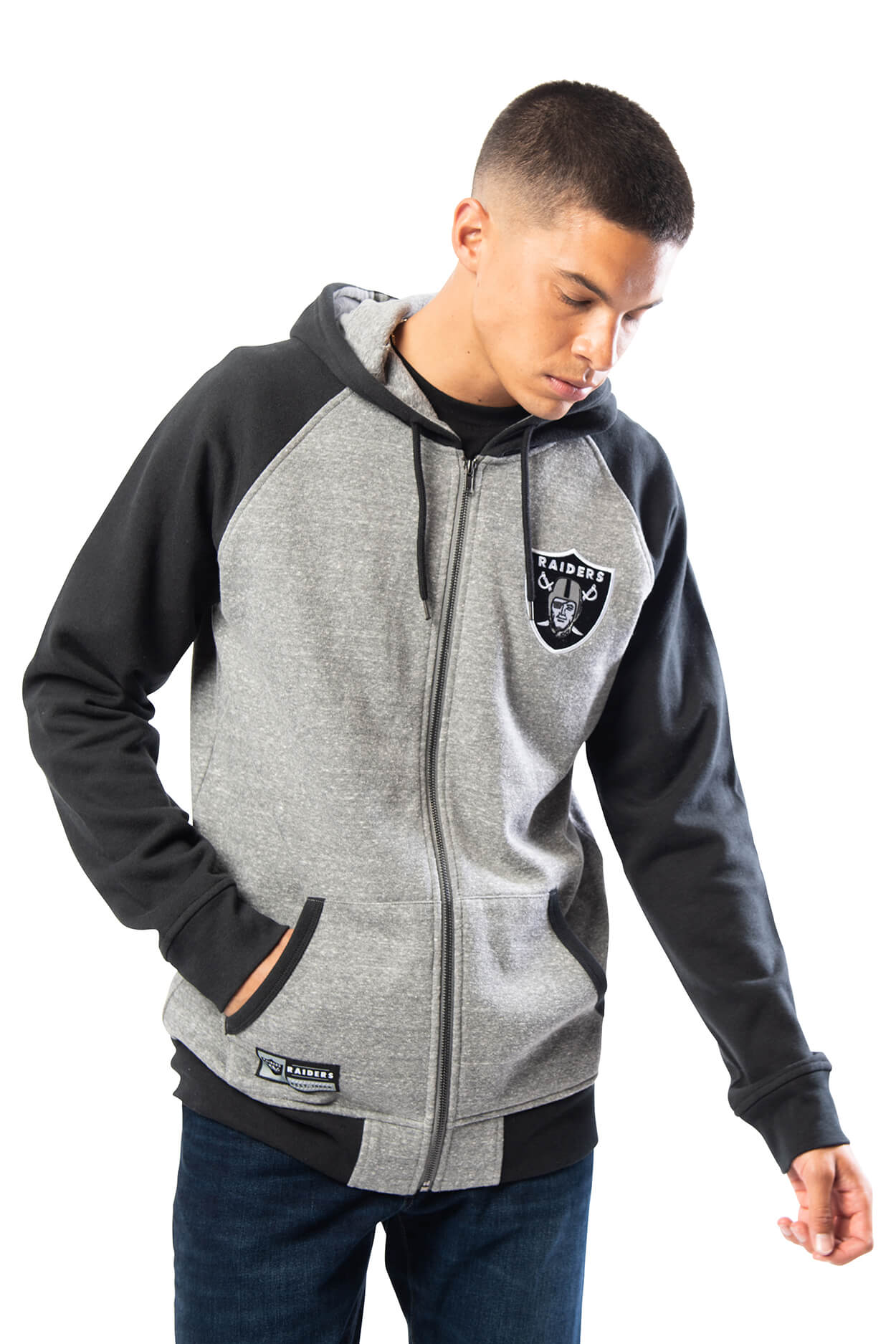 NFL Oakland Raiders Men's Full Zip Hoodie|Oakland Raiders