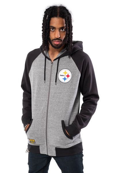 NFL Pittsburgh Steelers Men's Full Zip Hoodie|Pittsburgh Steelers