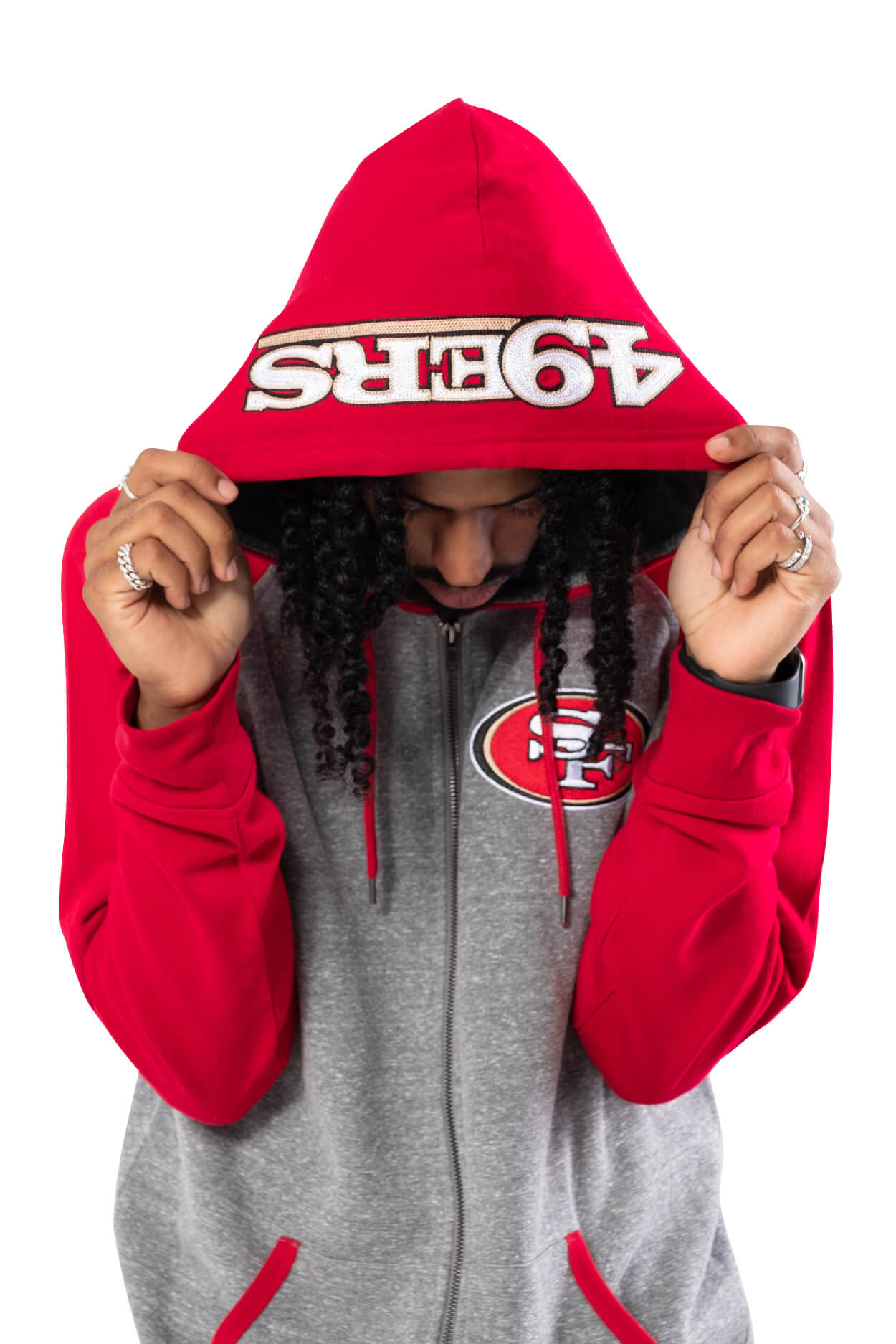 NFL San Francisco 49ers Men's Full Zip Hoodie|San Francisco 49ers