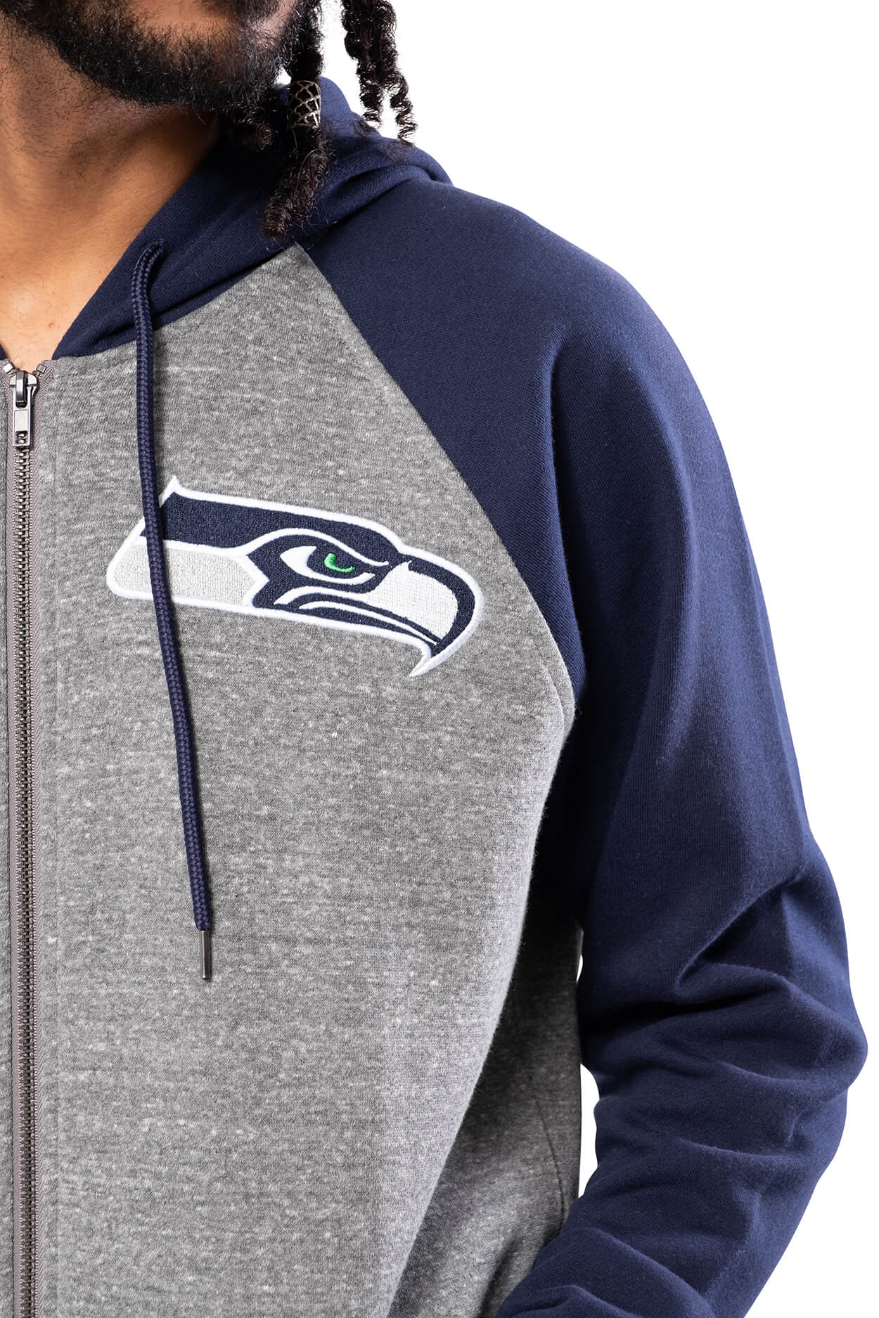 NFL Seattle Seahawks Men's Full Zip Hoodie|Seattle Seahawks