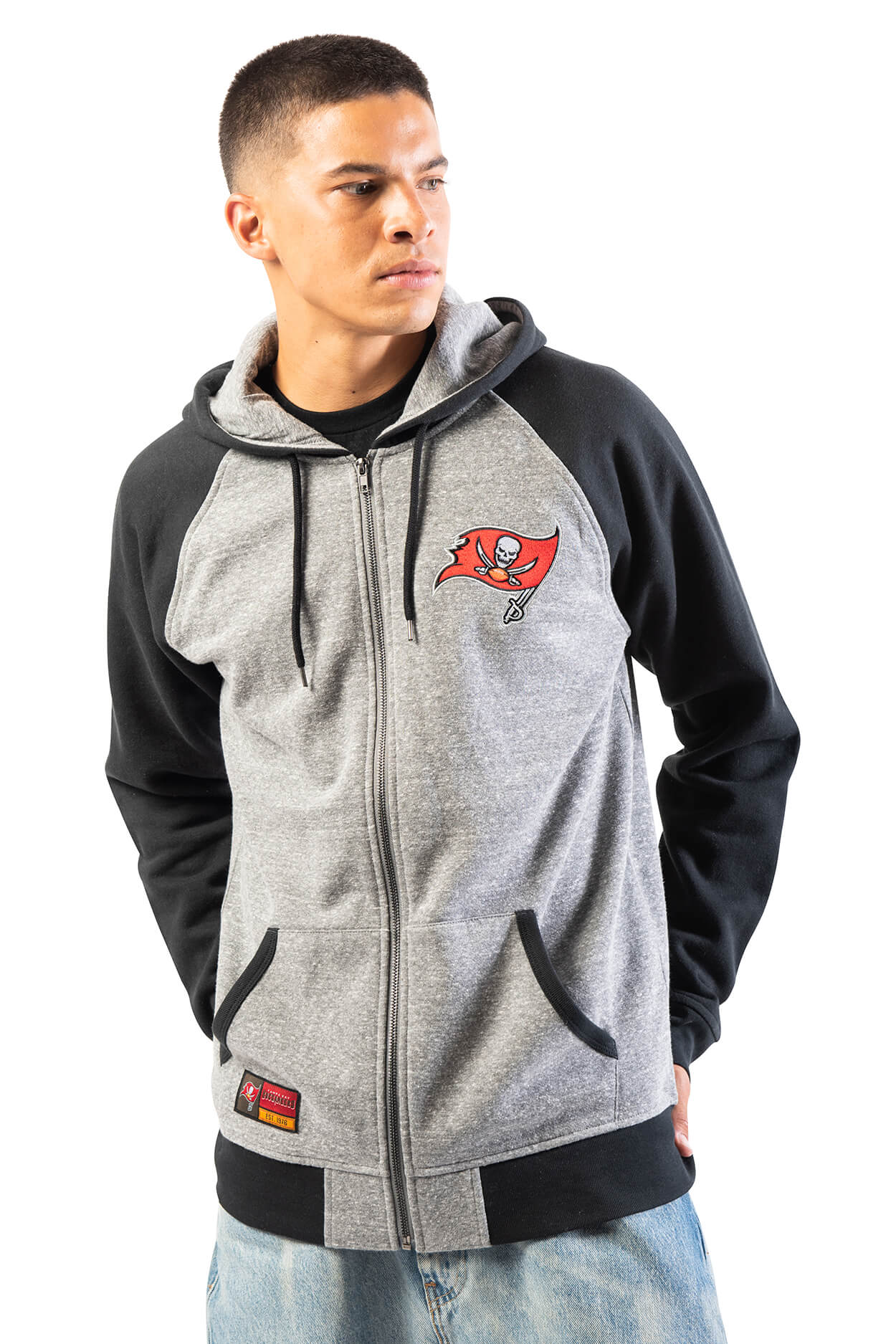 NFL Tampa Bay Buccaneers Men's Full Zip Hoodie|Tampa Bay Buccaneers