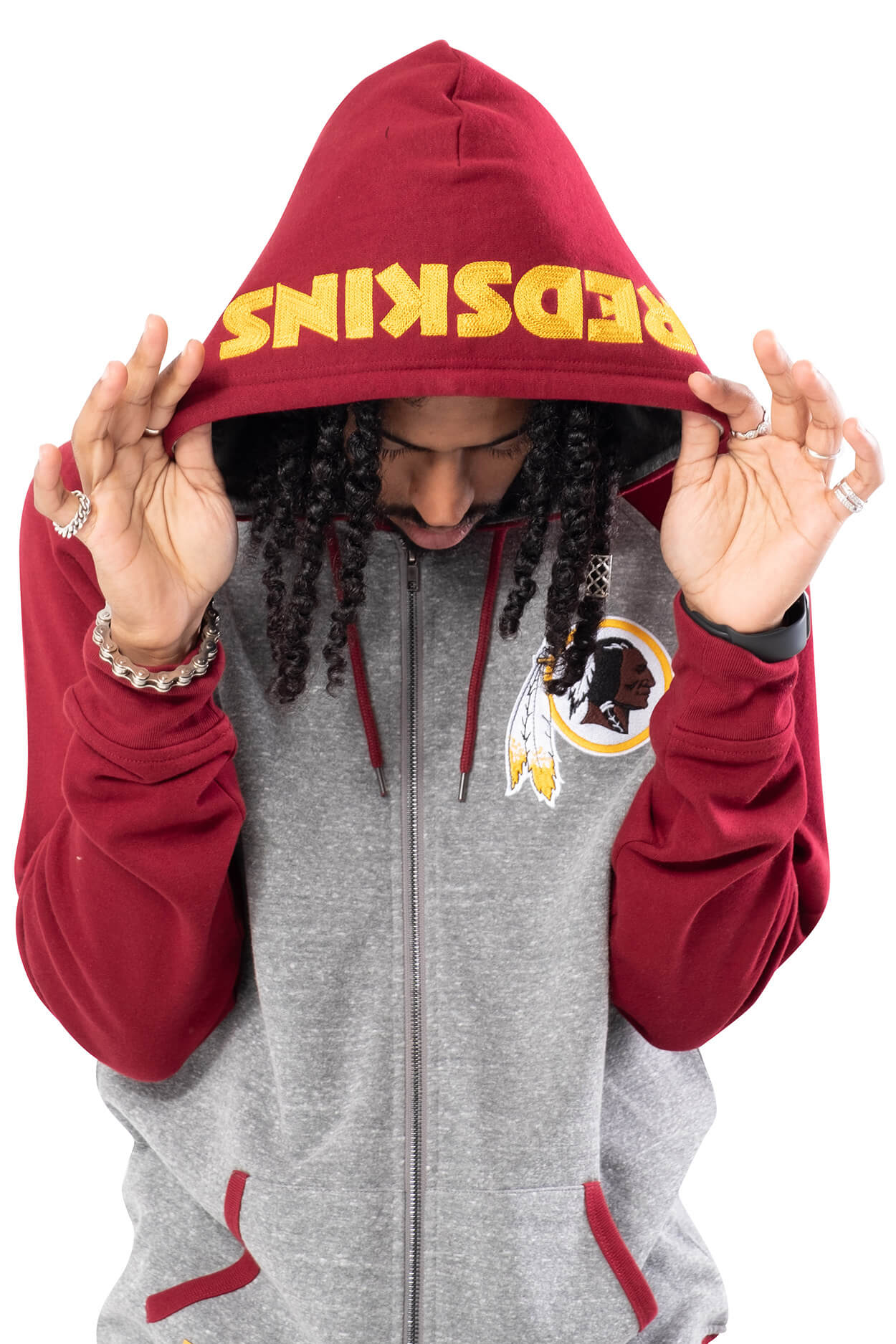 NFL Washington Redskins Men's Full Zip Hoodie|Washington Redskins