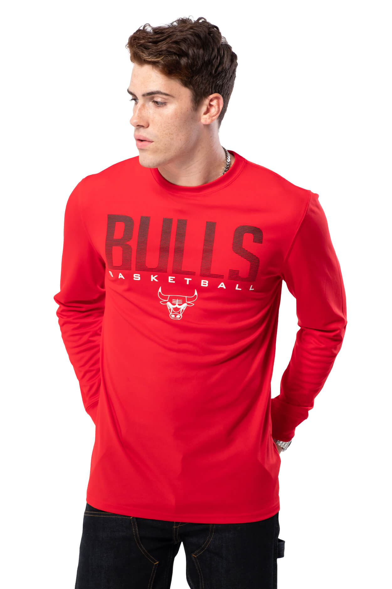 NBA Chicago Bulls Men's Long Sleeve Tee|Chicago Bulls