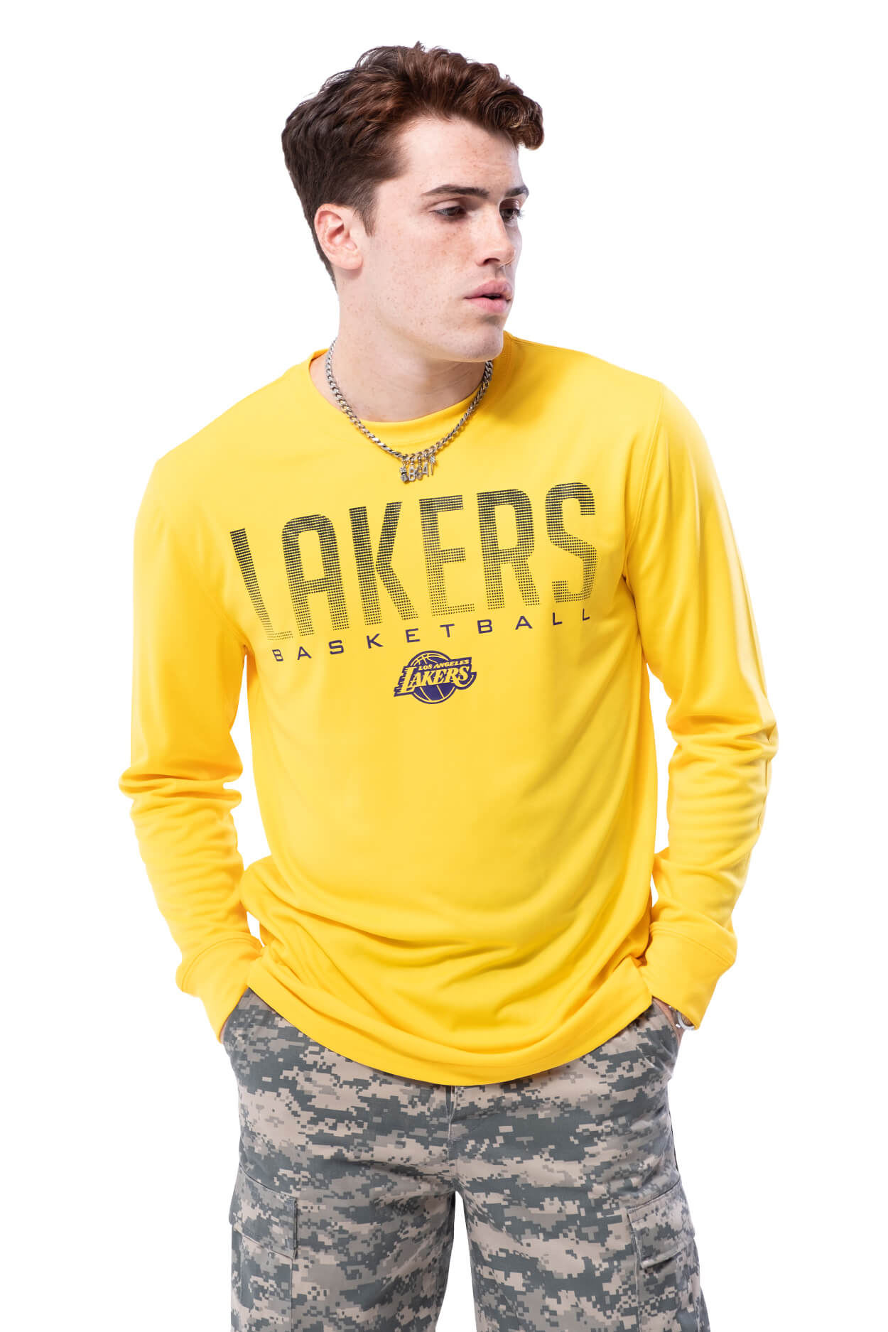 NBA Los Angeles Lakers Men's Long Sleeve Tee|Los Angeles Lakers