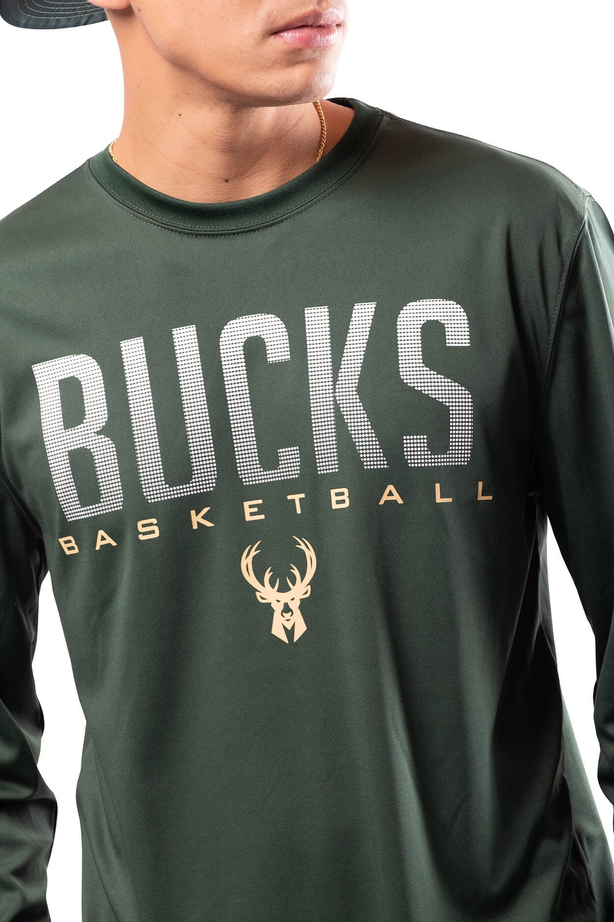 NBA Milwaukee Bucks Men's Long Sleeve Tee|Milwaukee Bucks