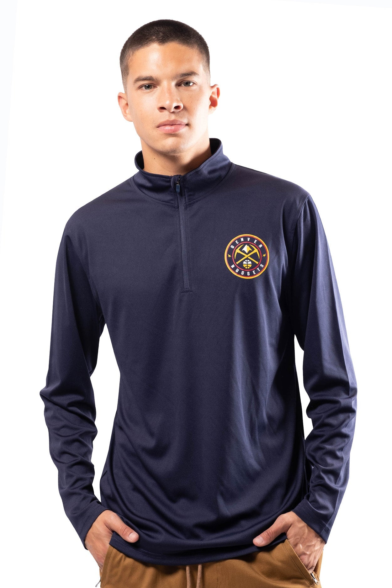 NBA Denver Nuggets Men's Quarter Zip Quick Dry Tee|Denver Nuggets