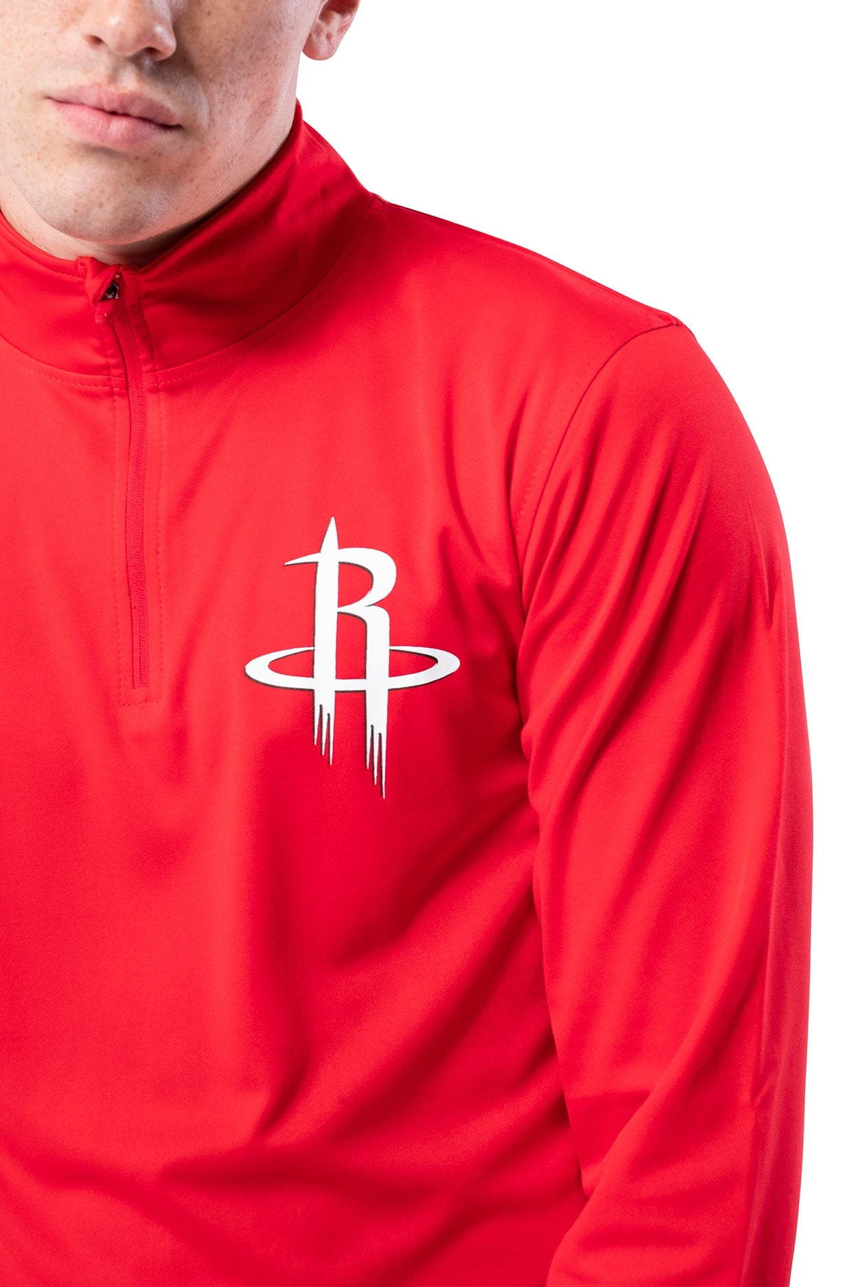 NBA Houston Rockets Men's Quarter Zip Quick Dry Tee|Houston Rockets