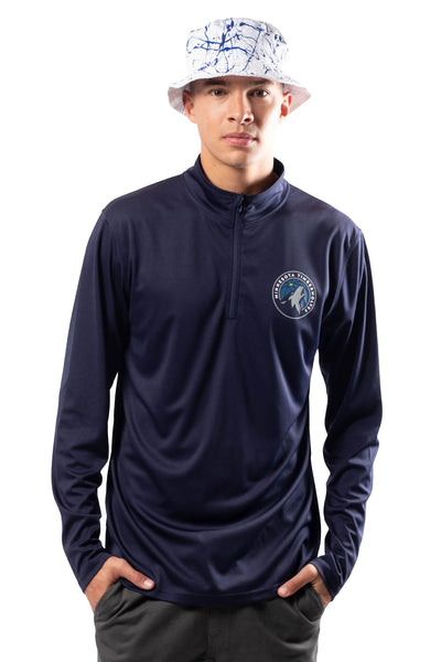 NBA Minnesota Timberwolves Men's Quarter Zip Quick Dry Tee|Minnesota Timberwolves