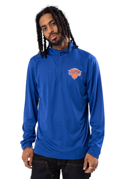 NBA New York Knicks Men's Quarter Zip Quick Dry Tee|New York Knicks