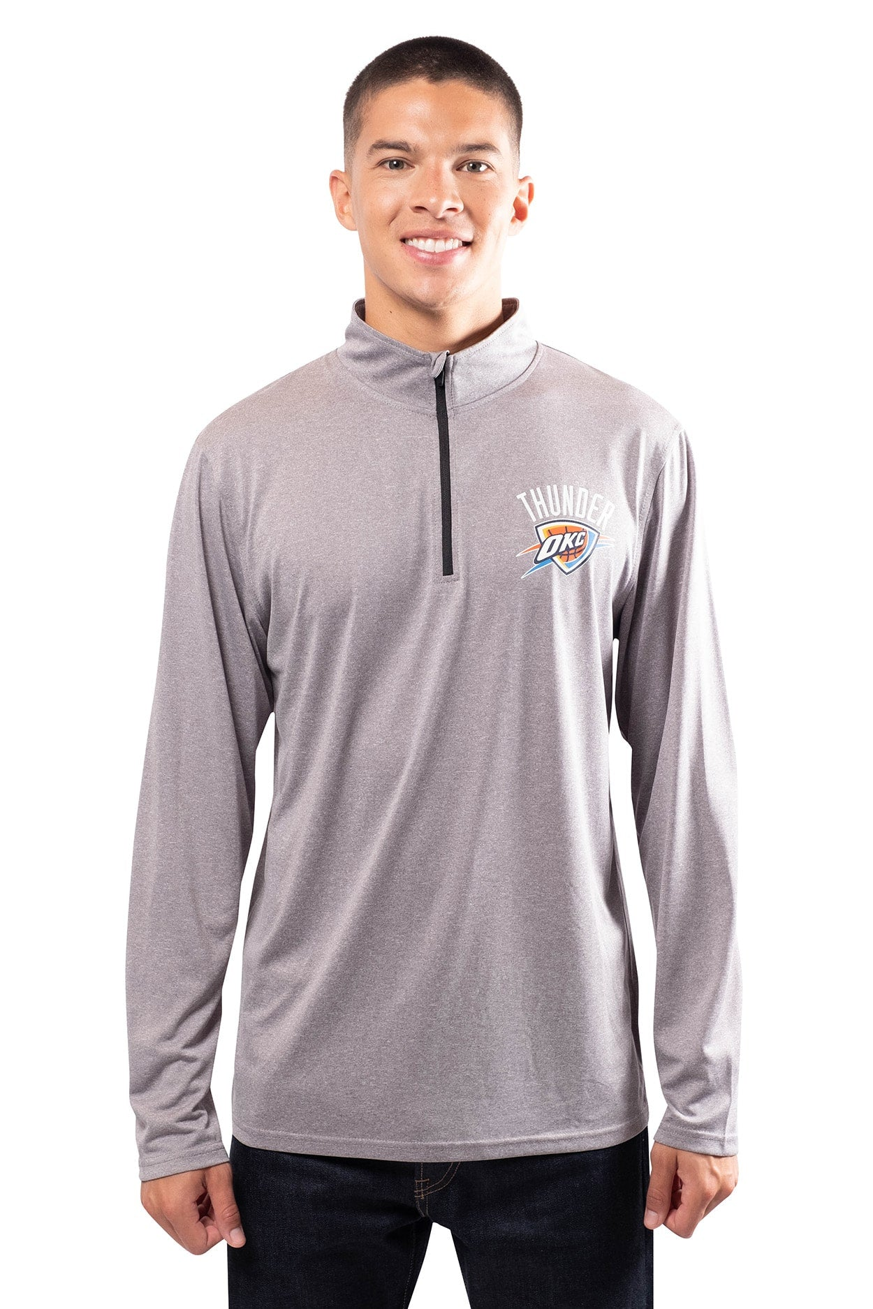 NBA Oklahoma City Thunder Men's Quarter Zip Quick Dry Tee|Oklahoma City Thunder