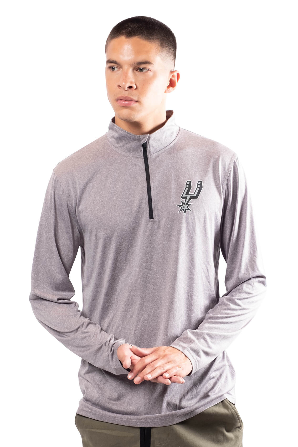 NBA San Antonio Spurs Men's Quarter Zip Quick Dry Tee|San Antonio Spurs