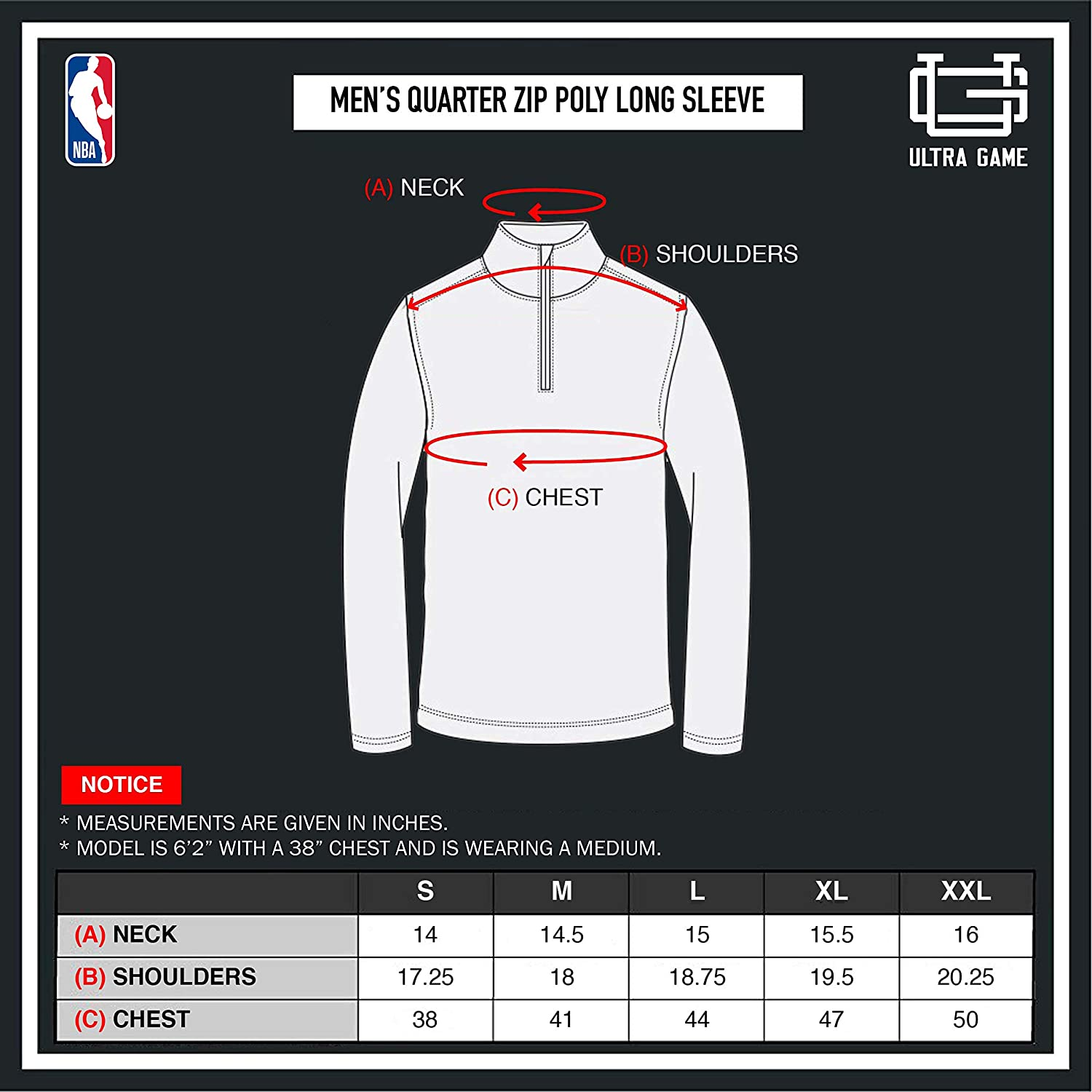 NBA Indiana Pacers Men's Quarter Zip Quick Dry Tee|Indiana Pacers