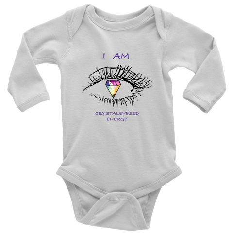 Crystaleyes Energy Baby bodysuit long sleeve