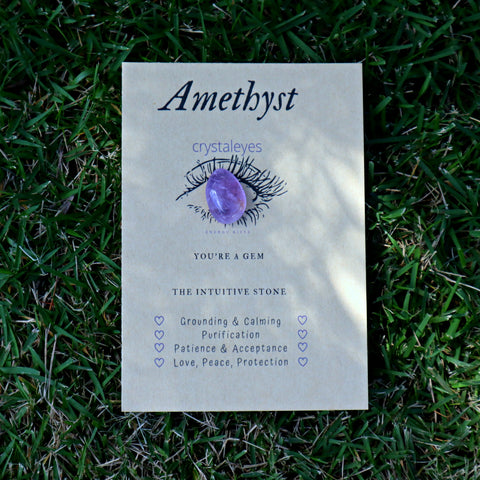 Amethyst Crystaleyesed Energy Gift
