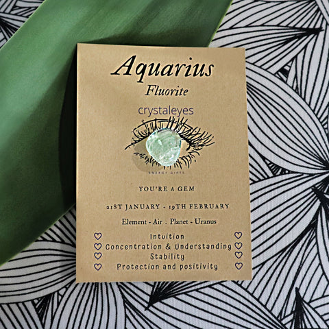 Aquarius Crystal Gift Card - Green Fluorite