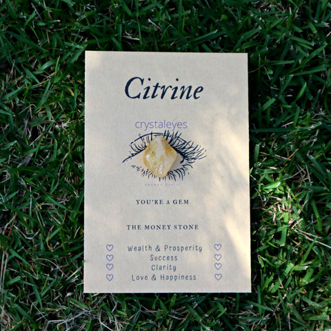 Citrine Crystaleyesed Energy Gift