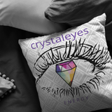 Crystaleyes Energy throw Pillow