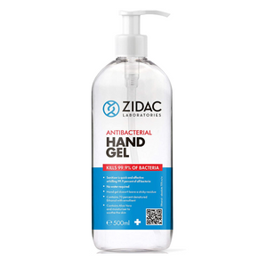 24 x 500ml Zidac Anti Bacterial Hand Gel