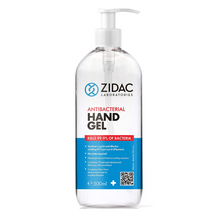 Load image into Gallery viewer, 12 x 500ml Zidac Anti Bacterial Hand Gel