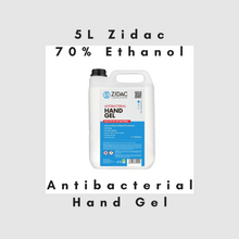 Load image into Gallery viewer, 2 x  5 Litre Zidac Anti Bacterial Hand Gel (10L)