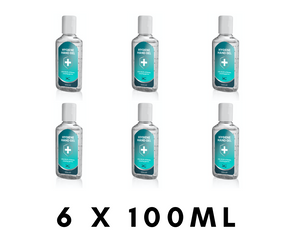 6 x 100ml Antibacterial Hand Sanitiser Gel - Vector