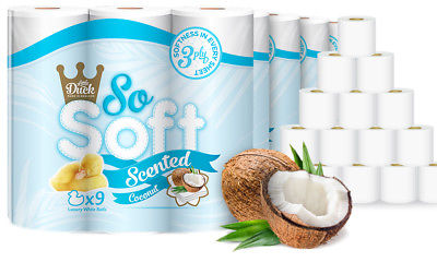 45 SO SOFT COCONUT SCENTED 3PLY EMBOSSED QUILTED TOILET TISSUE