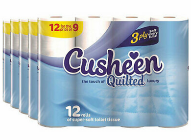 60 White Cusheen Toilet Roll