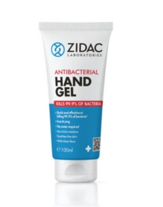 24 x 100ml  Squeezy Tube Zidac Anti Bacterial Hand Gel