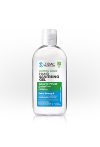 3x 100ml NEW Zidac Hospital Grade Hand Gel -