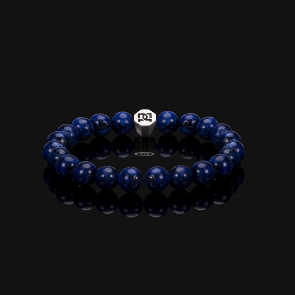 ROYAL LAPIS LAZULI ESSENTIAL SILVER BRACELET 8MM