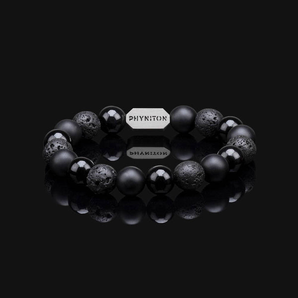 ALL BLACK ESSENTIAL SILVER BRACELET 10MM