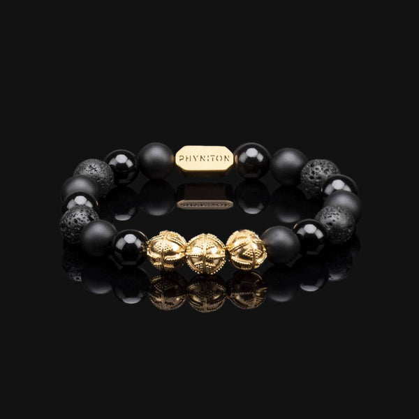 ALL BLACK PREMIUM GOLD BRACELET 10MM
