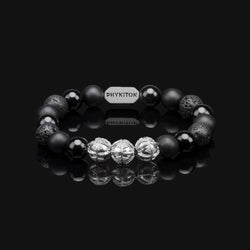 ALL BLACK PREMIUM SILVER BRACELET 10MM