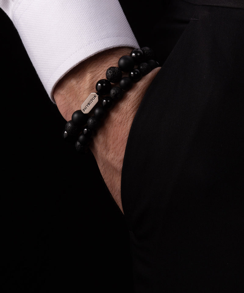 ALL BLACK ESSENTIAL BLACK GOLD BRACELET 10MM