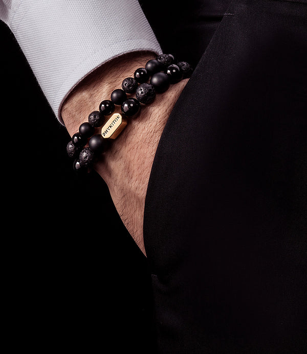 ALL BLACK ESSENTIAL GOLD BRACELET 10MM