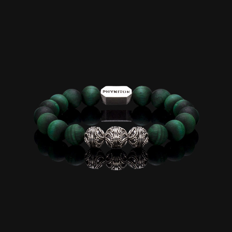 ICED GREEN TIGER EYE PREMIUM BRACELET 10MM