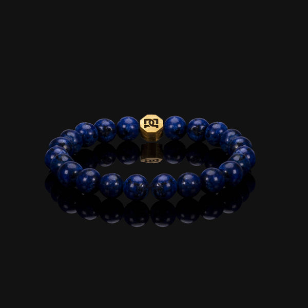 ROYAL LAPIS LAZULI ESSENTIAL GOLD BRACELET 8MM
